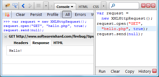 Firebug Tip: Resend HTTP Request | Software is hard