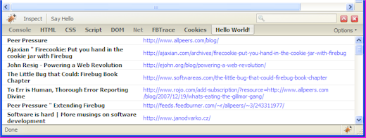 Yahoo! Search results in Firebug