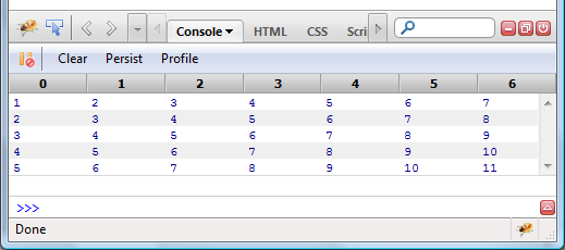 Simple tabular log