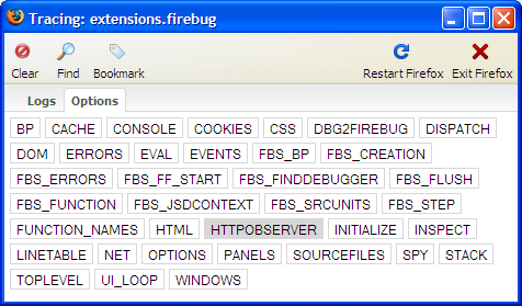 How to open Firebug Tracing Console