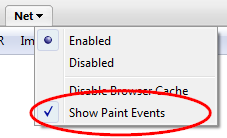 Show Paint Events option