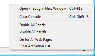 Firebug Start Button