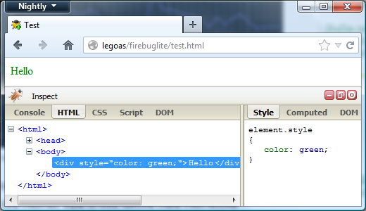 firebug google chrome